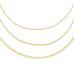 Gold Triple Chain Necklace Combo Set - Adina's Jewels