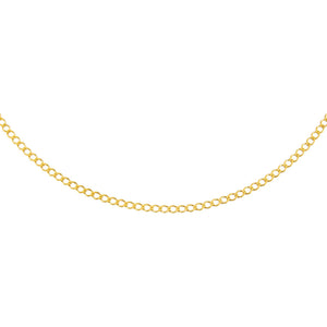 "Gold / 16"" Cuban Flat Necklace - Adina's Jewels"