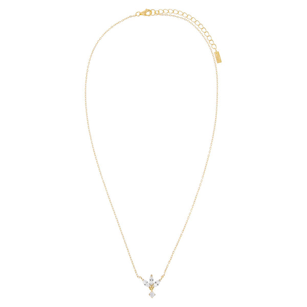 CZ Marquise Drop Necklace - Adina's Jewels