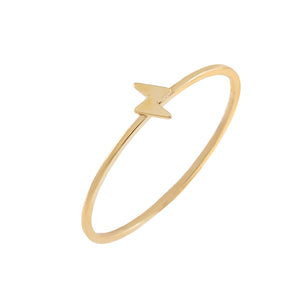 14K Gold / 6 Mini Lightning Bolt Ring 14K - Adina's Jewels