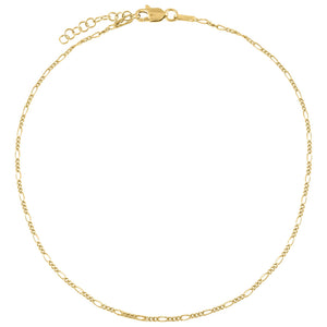 Gold Baby Figaro Anklet - Adina's Jewels
