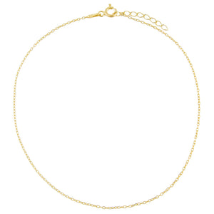 Gold Chain Anklet - Adina's Jewels