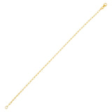 14K Gold Thin Link Bracelet 14K - Adina's Jewels