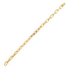 14K Gold Diamond Box Link Bracelet 14K - Adina's Jewels