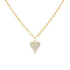 Gold Pavé Heart Link Necklace - Adina's Jewels