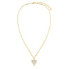 Pavé Heart Link Necklace - Adina's Jewels
