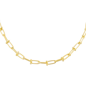 Gold Thin U Chain Necklace - Adina's Jewels