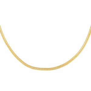 Gold Double Curb Chain Link Necklace - Adina's Jewels
