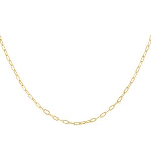 "Gold / 18"" Thin Oval Link Necklace - Adina's Jewels"