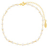 Pearl White Pearl Beaded Anklet - Adina's Jewels