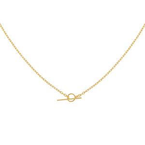 Gold Thin Chain Toggle Choker - Adina's Jewels