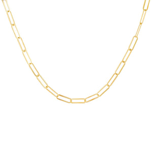 Gold Open Oval Link Necklace - Adina's Jewels