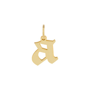 Lowercase Gothic Initial Necklace Charm