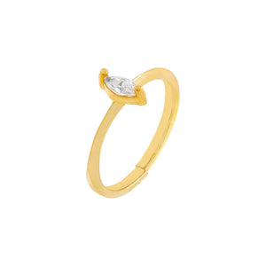 Gold CZ Marquise Stone Ring - Adina's Jewels
