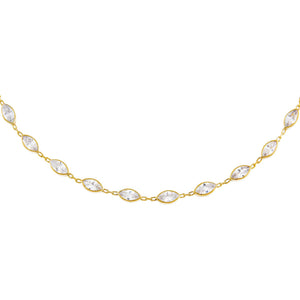 Gold CZ Multi Marquise Choker - Adina's Jewels