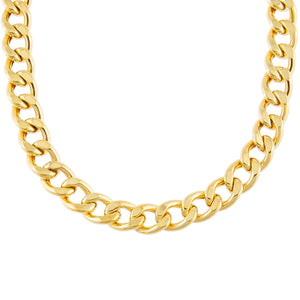 Gold Large Miami Curb Link Necklace - Adina's Jewels