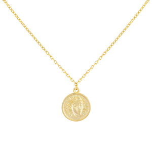 Gold Mini Greek Coin Necklace - Adina's Jewels