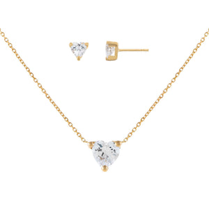 14K Gold I Heart You Combo Set 14K - Adina's Jewels