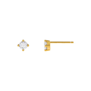Gold Tiny Juliette Stud Earring - Adina's Jewels
