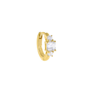 Gold CZ Multi Stone Cartilage Huggie Earring - Adina's Jewels