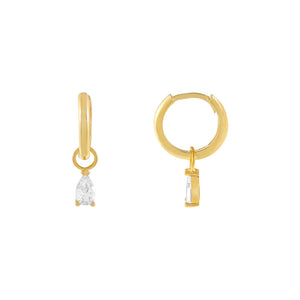 Gold Mini Teardrop Huggie Earring - Adina's Jewels