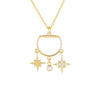 Gold CZ Charms Necklace - Adina's Jewels
