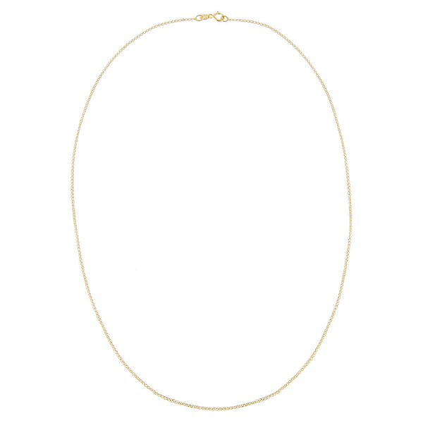 Thin Interlocked Link Necklace 14K - Adina's Jewels