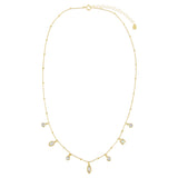 CZ X Opal Charms Necklace - Adina's Jewels