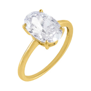 Gold / 6 Oval Thin Travel Ring - Adina's Jewels