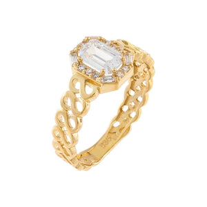 14K Gold / 7 CZ Mini Baguette Ring 14K - Adina's Jewels