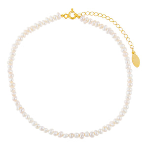 Pearl White Pearl Anklet - Adina's Jewels