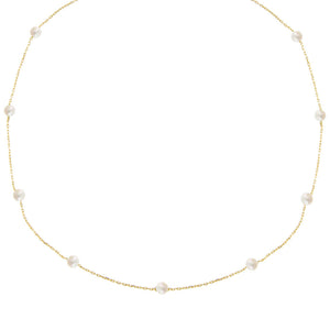 Pearl White Multi Pearl Choker - Adina's Jewels