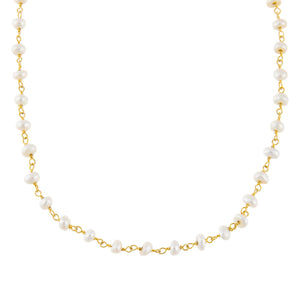 Pearl White Pearl Beaded Choker - Adina's Jewels