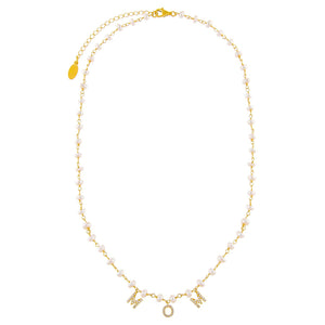CZ Mom Pearl Necklace - Adina's Jewels