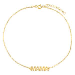 Gold Mama Nameplate Anklet - Adina's Jewels