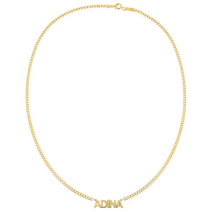 Mini Nameplate Choker - Adina's Jewels