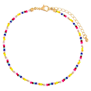 Multi-Color Multi Color Beaded Anklet - Adina's Jewels