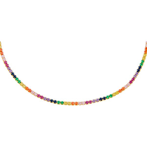 Combo Rainbow Tennis Choker - Adina's Jewels
