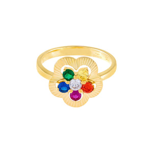 CZ Illusion Flower Ring - Adina's Jewels
