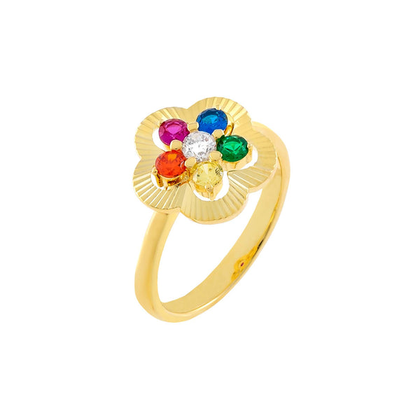 Multi-Color / 6 CZ Illusion Flower Ring - Adina's Jewels