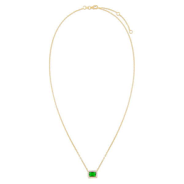 CZ Colored Illusion Necklace - Adina's Jewels