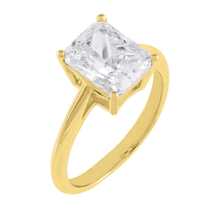 Gold / 6 CZ Emerald Cut Travel Ring - Adina's Jewels