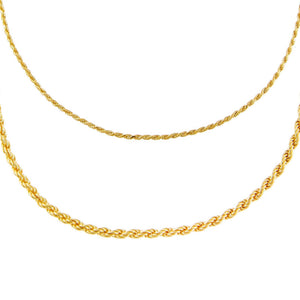 Gold Rope Chain Anklet Combo Set - Adina's Jewels