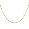 Gold Two Tone Ball Chain Necklace - Adina's Jewels