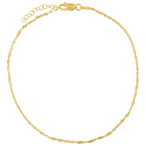 Gold Singapore Anklet - Adina's Jewels