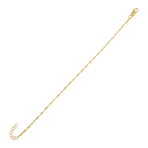 Gold Singapore Bracelet - Adina's Jewels