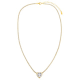 CZ Colored Heart Tennis Necklace - Adina's Jewels