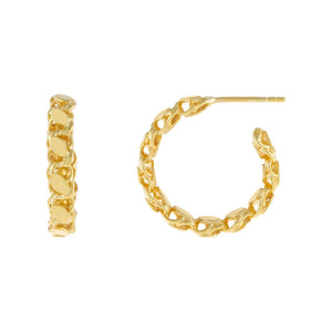 Gold / 20 MM Harem Chain Hoop Earring - Adina's Jewels