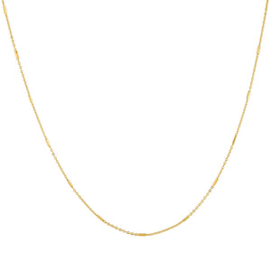 Gold Rounded Bar Chain Necklace - Adina's Jewels