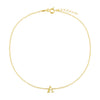 Gold / A Uppercase Initial Anklet - Adina's Jewels